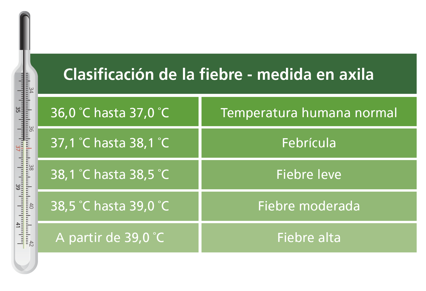 temperatura normal en bebes de un ano