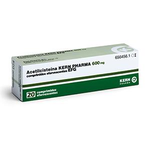 Acetilcisteína 600 mg, 20 compr. eferv.