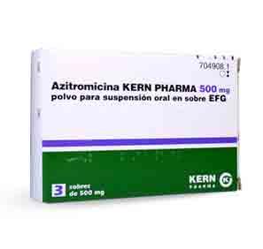 Azitromicina Kern Pharma Efg 500 Mg 3 Sobres