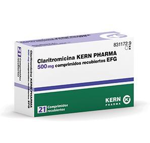 Claritromicina Kern Pharma Efg 500 Mg 21 Compr Recub